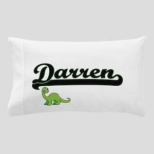 Darren Classic Name Design with Dinosa Pillow Case