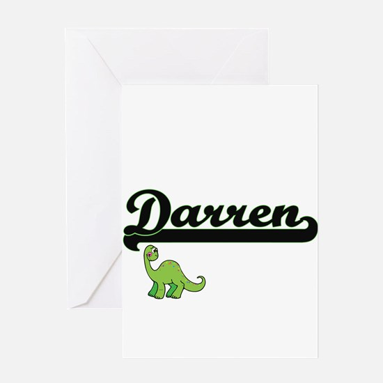 Darren Classic Name Design with Din Greeting Cards