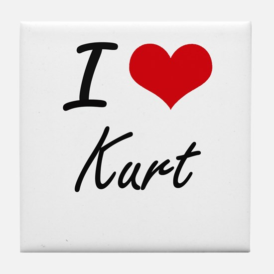 I Love Kurt Tile Coaster