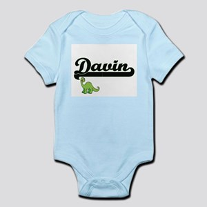 Davin Classic Name Design with Dinosaur Body Suit