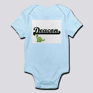 Deacon Classic Name Design with Dinosaur Body Suit