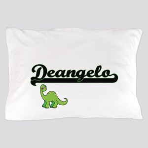 Deangelo Classic Name Design with Dino Pillow Case