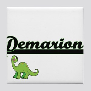 Demarion Classic Name Design with Din Tile Coaster