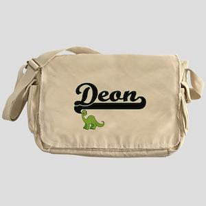 Deon Classic Name Design with Dinosa Messenger Bag