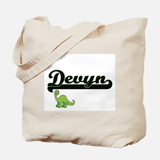 Devyn Classic Name Design with Dinosaur Tote Bag