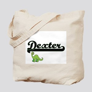 Dexter Classic Name Design with Dinosaur Tote Bag