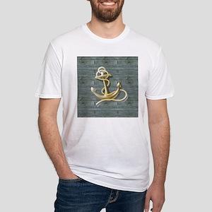 ocean blue wood anchor T-Shirt