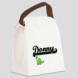 Donny Classic Name Design with Di Canvas Lunch Bag