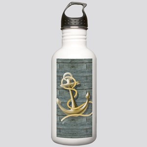 ocean blue wood anchor Stainless Water Bottle 1.0L