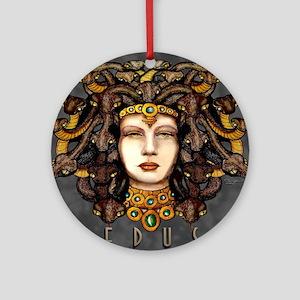Medusa Steel Round Ornament