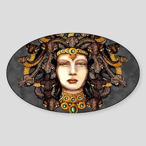 Medusa Steel Sticker (Oval)