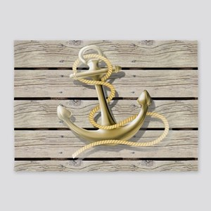 white drift wood anchor 5'x7'Area Rug