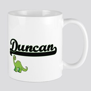 Duncan Classic Name Design with Dinosaur Mugs