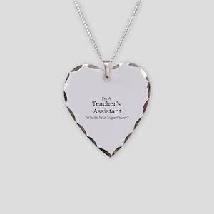 Teacher's Assistant Necklace Heart Charm