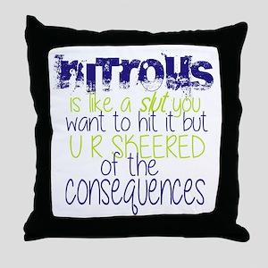 nitrous Throw Pillow