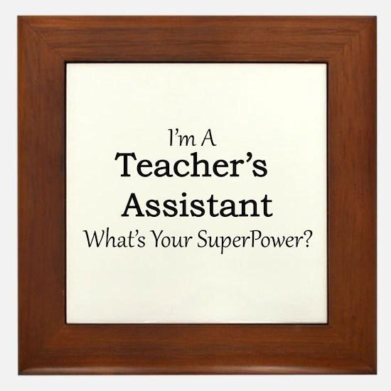 Teacher's Assistant Framed Tile