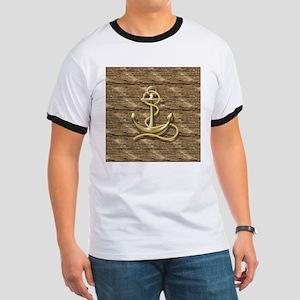nautical beach wood anchor T-Shirt