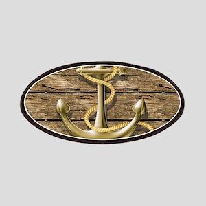 nautical beach wood anchor Patch