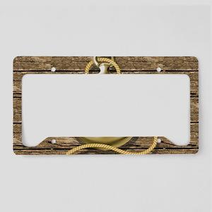 nautical beach wood anchor License Plate Holder