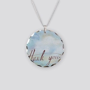 thank you Necklace Circle Charm