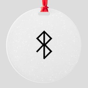 Viking Peace Rune Round Ornament