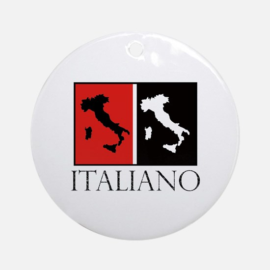 Italiano: Red Black Round Ornament