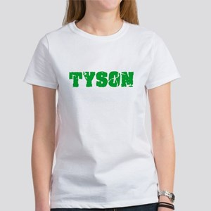 Tyson Name Weathered Green Design T-Shirt