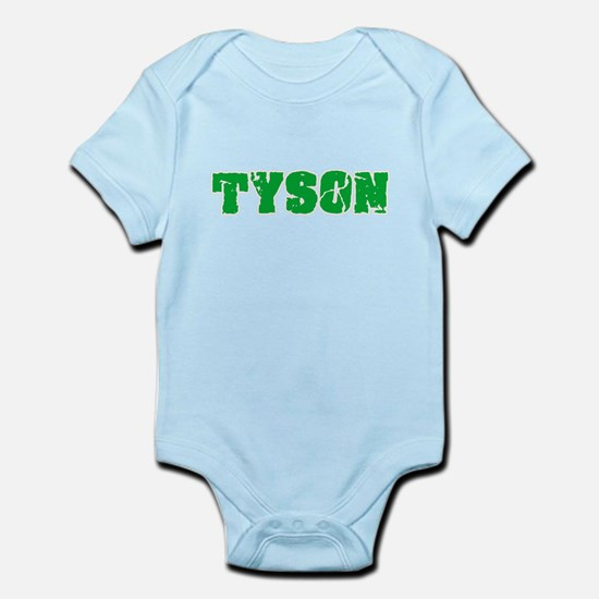 Tyson Name Weathered Green Design Body Suit