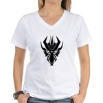 Dragon Glyph - Onyx Women's V-Neck T-Shirt