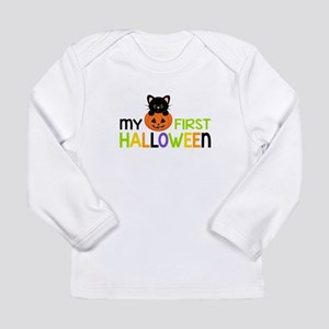First Halloween Cat Boys Long Sleeve T-Shirt
