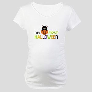 First Halloween Cat Boys Maternity T-Shirt
