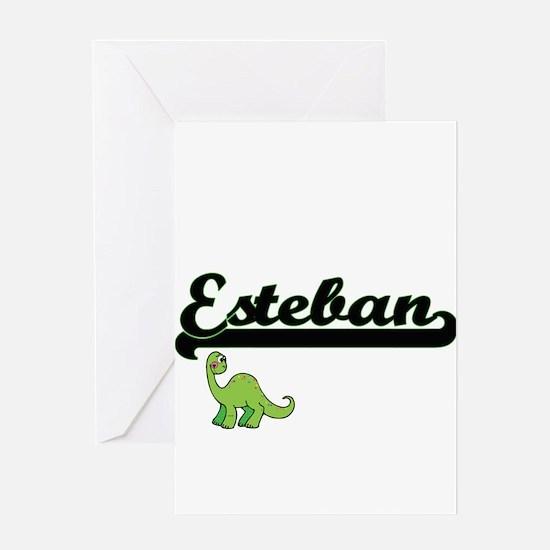 Esteban Classic Name Design with Di Greeting Cards