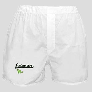 Estevan Classic Name Design with Dino Boxer Shorts