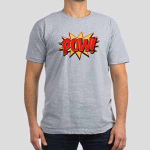Pow! Men's Fitted T-Shirt (dark)
