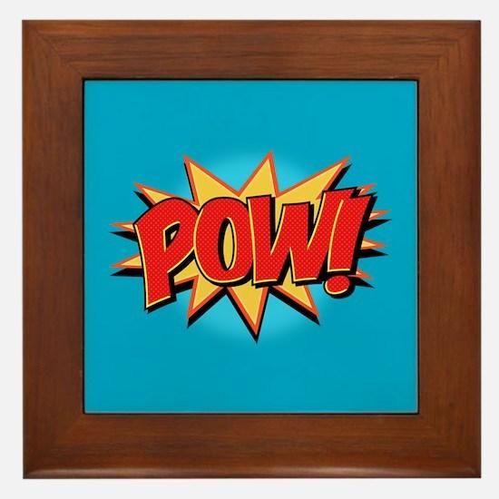 Pow! Framed Tile