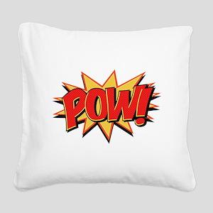 Pow! Square Canvas Pillow