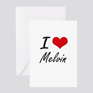 I Love Melvin Greeting Cards