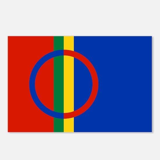 Scandinavia Sami Flag Postcards (Package of 8)