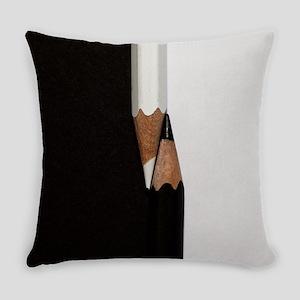 black white pencils Everyday Pillow