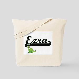 Ezra Classic Name Design with Dinosaur Tote Bag