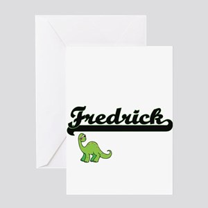 Fredrick Classic Name Design with D Greeting Cards