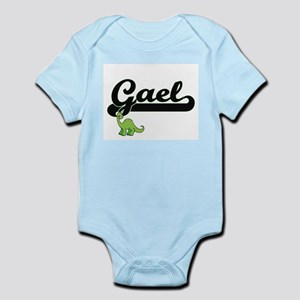 Gael Classic Name Design with Dinosaur Body Suit