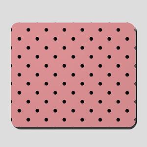 Baby Pink & White Polka Dots Mousepad