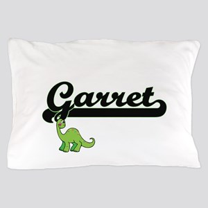 Garret Classic Name Design with Dinosa Pillow Case