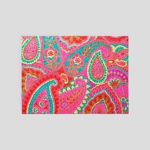 Pink Paisley 5'x7'Area Rug