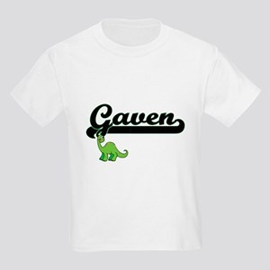 Gaven Classic Name Design with Dinosaur T-Shirt