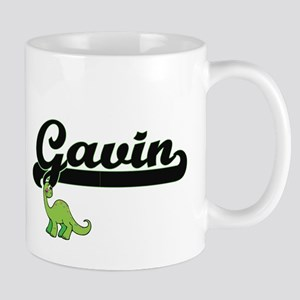 Gavin Classic Name Design with Dinosaur Mugs