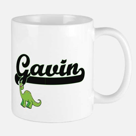 Gavin Classic Name Design with Dinosaur Mugs