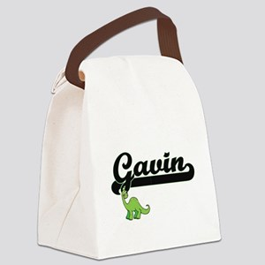 Gavin Classic Name Design with Di Canvas Lunch Bag