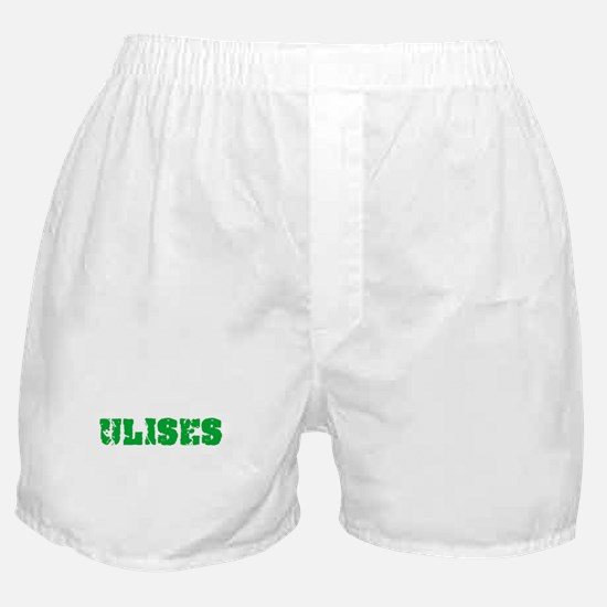 Ulises Name Weathered Green Design Boxer Shorts